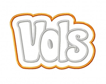 Vols Double Applique Embroidery Design