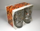 Vintage 1970s Libbey Glasses with Ducks and Geese NOS  - Full color, never used, in original packaging