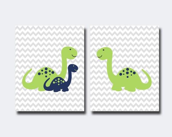 baby boy dinosaur nursery art print nursery wall art by hopandpop. Black Bedroom Furniture Sets. Home Design Ideas