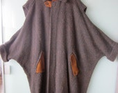 Gorgeous vintage pure wool boucle cocoon coat.  One of a kind