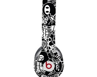 Black and White Beats by Dre Solo Skin  (**NOT HEADPHONES**)