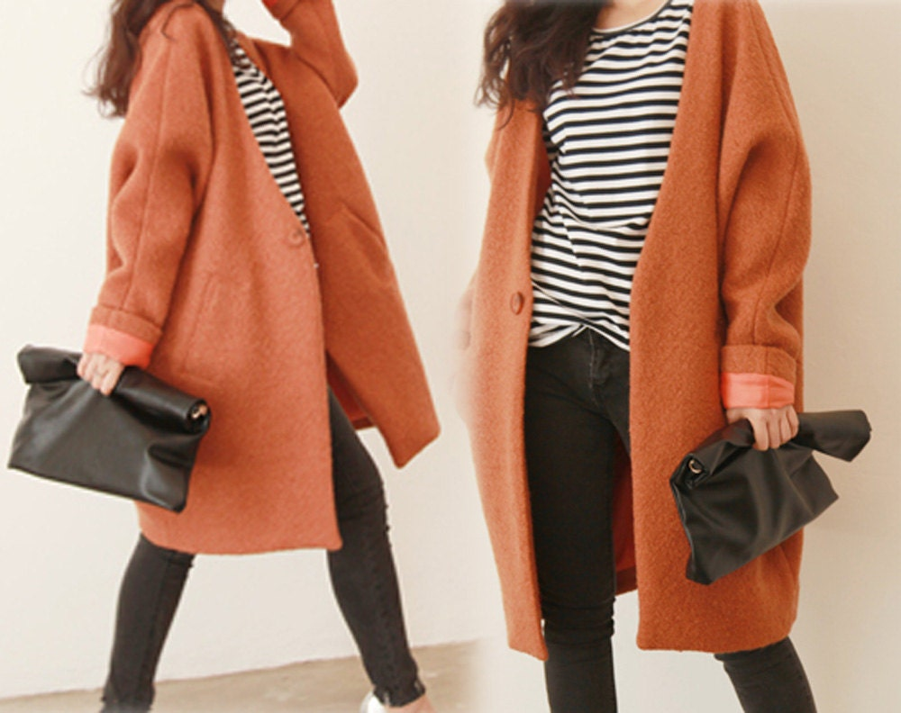 Collection Oversized Wool Coat Pictures - Reikian