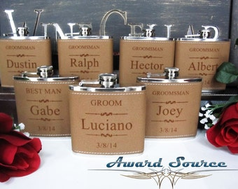 Groomsmen Gift, Engraved Hip Flask, Groomsmen Flask, Personalized Flask, Best Man Gift, Bridal Party, Wedding Party Gift