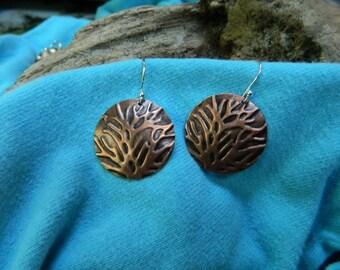 Copper 'Branch' Earrings