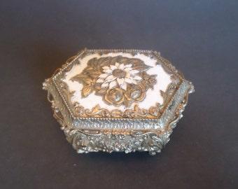 Ornate Silver Plated Trinket Box