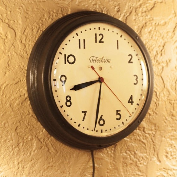Early 1940 S Telechron Vintage Electric Wall Wwii Era