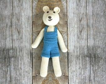 Organic CottonTom The Bear Stuffed Animal Toy