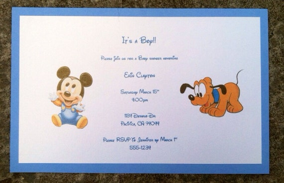 disney baby shower invitation by paulineparrdesigns on etsy