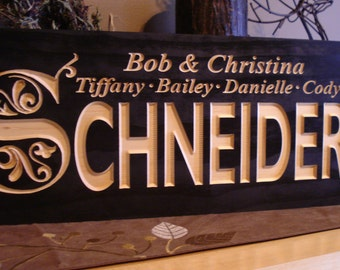 Family Last Name Carved Wooden Sign Wedding Sign Wooden Wall Art Personalized Anniversary Gifts Wood SIgn Established Benchmark Signs #25