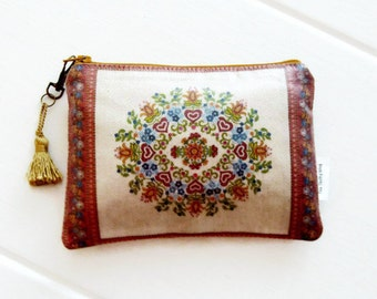 Folklore large purse or small cosmetic pouch