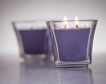 Stress-Free and relaxing lavender scented candle for your therapeutic needs.  One truly relaxing scent and a warm gift for any occasion.