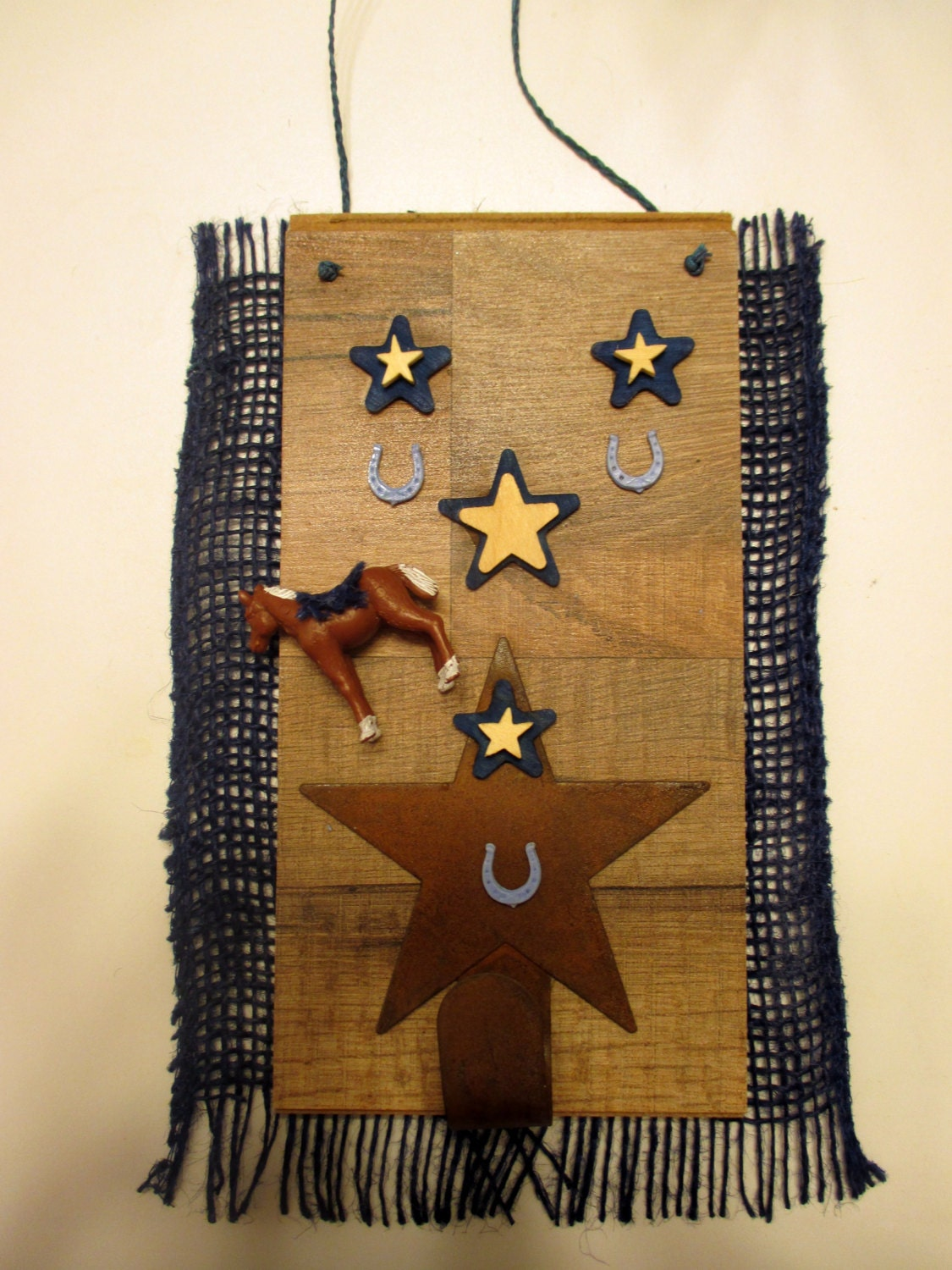Rustic Primitive Wall Decor Rust Star Hanger By