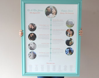A bespoke, relationship timeline table plan. Custom made for you.