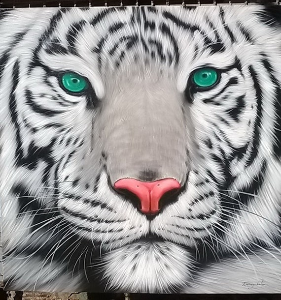 White Tiger painting oil painting on canvas 40X40