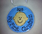 Baby Boy's First Christmas Ornament 2013