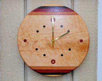 Handmade Wood Clock***FREE SHIPPING***