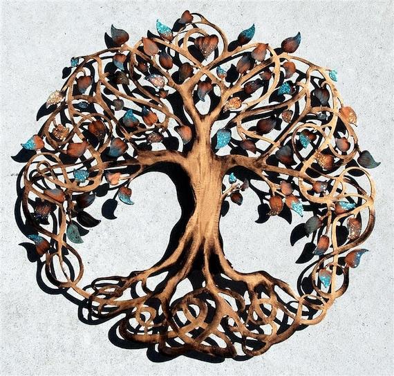 Metal Wall Decor Etsy : Tree of life metal wall art