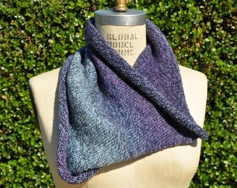 Purple and Blue Ombre Cowl