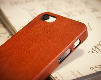 iPhone Leather Case made by Burnished Distressed leather for iPhone SE 5s 5c 4s to use as protection CHOOSE BODY colour