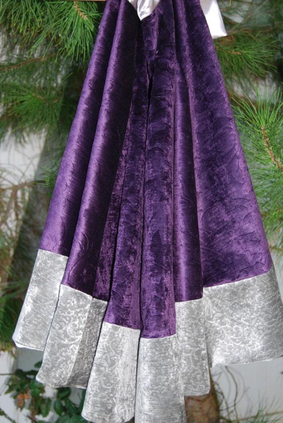 Purple Velvet Tree Skirt 24