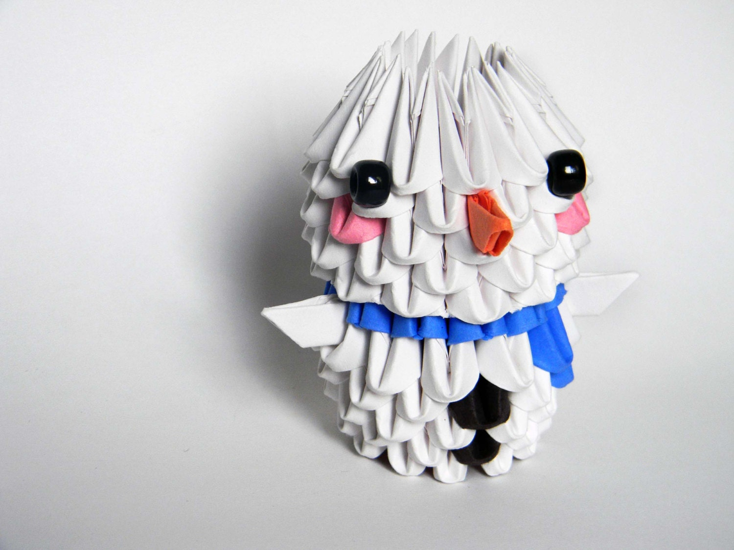 3D Origami Snowman by Imagifold on Etsy - photo#35