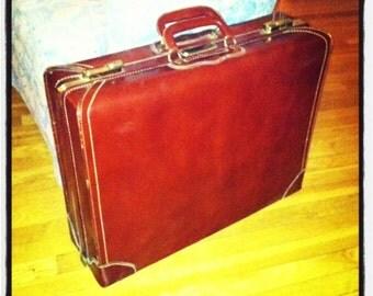 Vintage Leather Suitcase - Vintage Leather Luggage