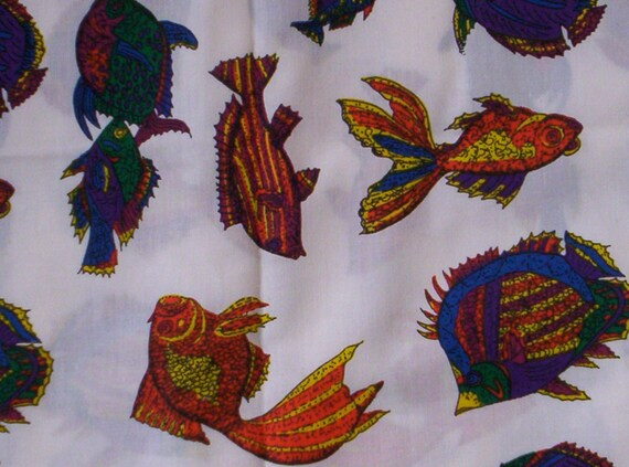 Items similar to quiltsy destash party cotton quilt fabric for Fish fabric for quilting