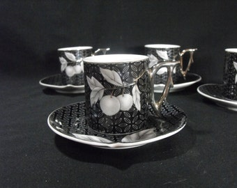 Yamasen Fine Porcelain Cup and Saucer Set