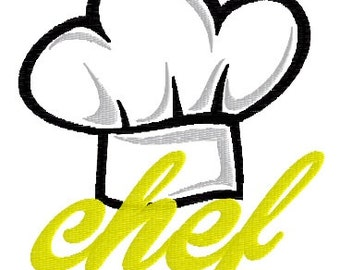 Chef Machine Embroidery and Applique Pattern