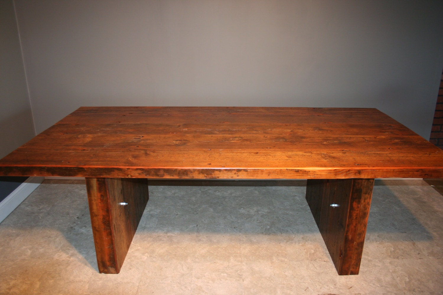 Salvaged urban wood conference table and by urbanwoodfurnishings