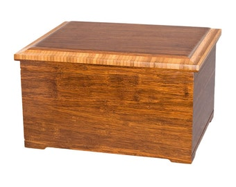 Bamboo Memory Chest Wood Cremation Urn