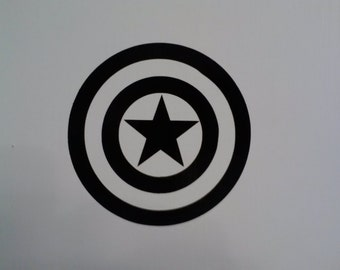 Captain America super hero decal sticker, several sizes and colors to choose from