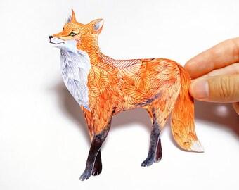 Garden Fox sticker // SALE 3 for 2 // 100% waterproof vinyl label.