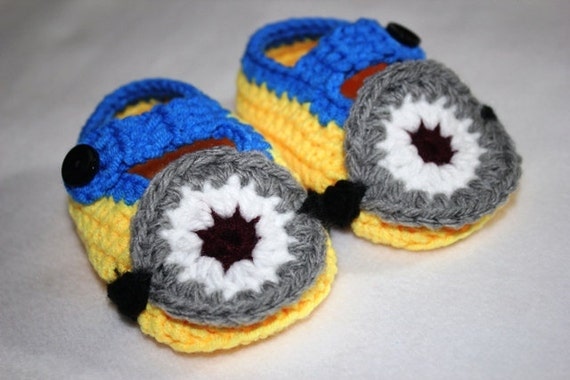 Crochet Minion Booties Girls/Boys Minion Shoes in by ...