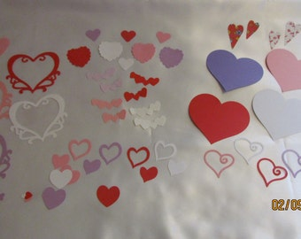 set of heart die cuts