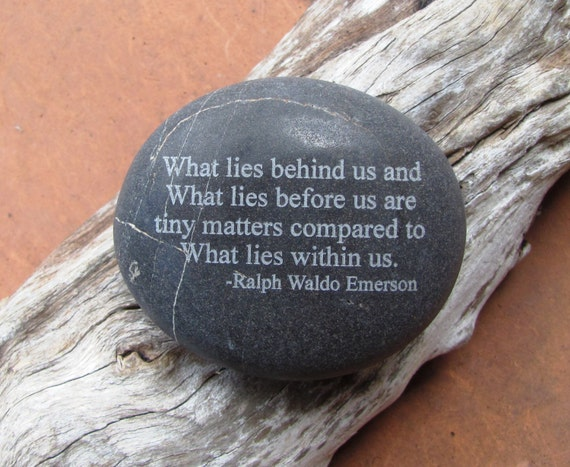 Etched Stone. Etched Garden Stone. Inspirational Stone.