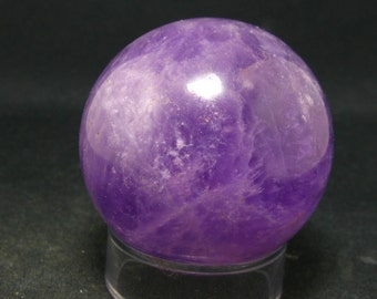 "Large Gem Amethyst Sphere From Brazil - 1.8"" - 545 Carat"