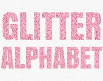 Popular items for light pink glitter on etsy for Pink glitter letters
