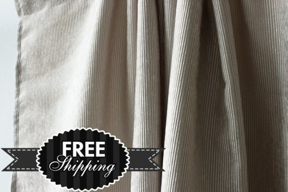 Corduroy Curtain Panels 50 Pairs In Off White By Fabricasia