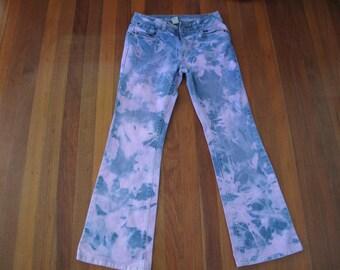 Women's Tie Dyed Purple Jeans