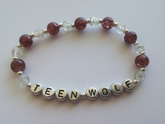 TEEN WOLF lacrosse colors stretch bracelet