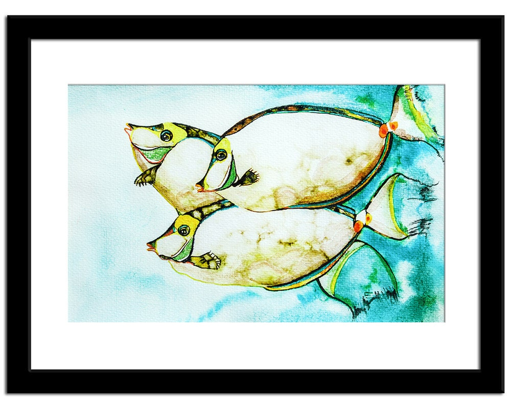 Fine artwork koi fish painting original watercolor pastel for Original koi fish