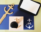 Custom Calligraphy Single Initial Anchor Stamp