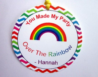 Rainbow Birthday Party Favor Tags