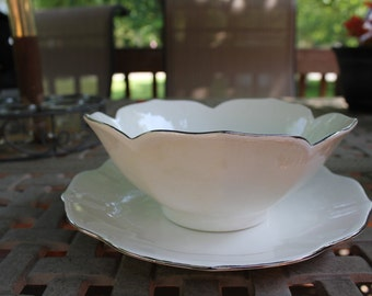 Lotus Petal Bowl & Plate 2407