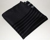 Black & White Stripe Handkerchief / Pocket Square