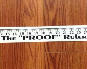 "The ""Proof"" Ruler: Adhesive Boat Ruler Decal (2 for 10) 2189"