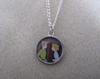 Peter Pan and Wendy Necklace