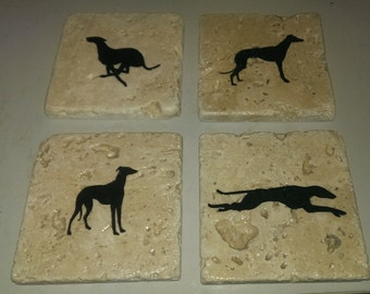 Greyhound Coasters (4-Pack)