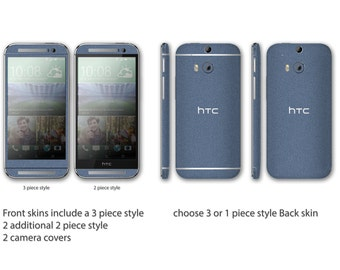 HTC One M8 Full Body Wrap DECAL Sticker Skin Kit Metal series by Stickerboy - Set 2